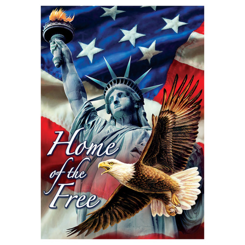 Patriotic Garden Flag - Home of the Free