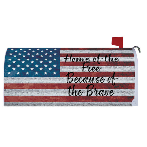 Magnetic Mailbox Cover - Home of the Free