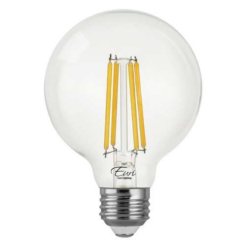 LED G25 Filament - 7 Watt - Dimmable - 100W Equiv - 800 Lumens - Euri Lighting