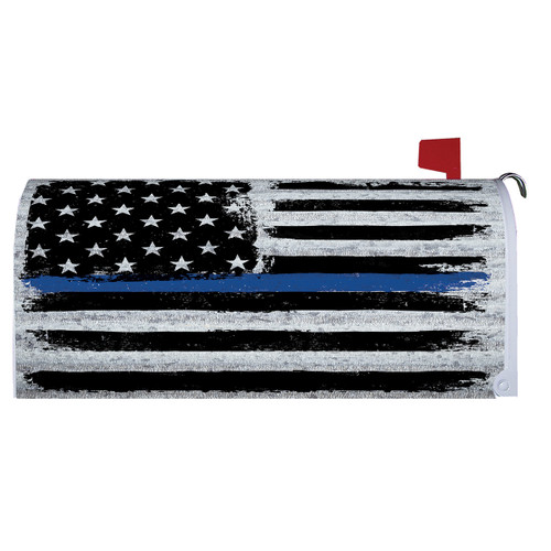 Magnetic Mailbox Cover - Police Tribute