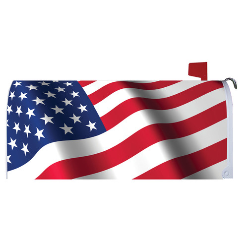 Magnetic Mailbox Cover - Waving Flag