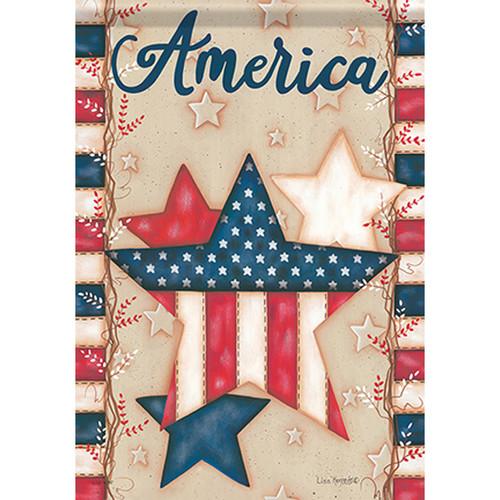 Carson Patriotic Garden Flag - American Stars