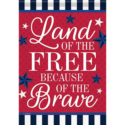 Carson Patriotic Banner Flag - Land of the Free