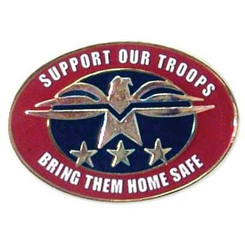 Support Our Troops-Bring Them Home Safe-Oval Pin