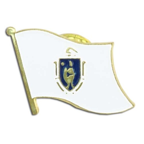 Massachusetts Flag Lapel Pin