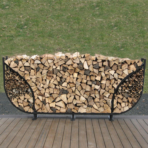 SHELTER-IT 8' Double Leaf Firewood Storage Rack with Kindling Storage - No Cover