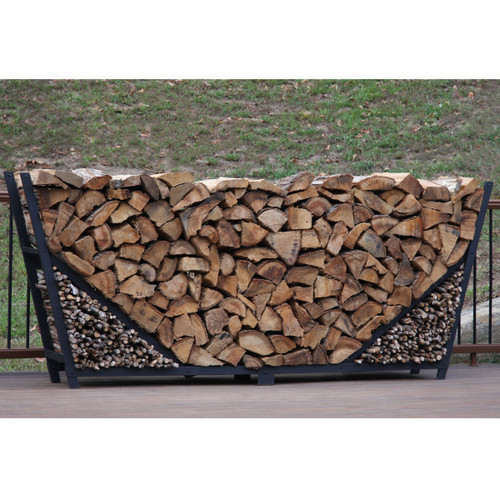 SHELTER-IT 10' Firewood Storage Rack with Kindling Storage - No Cover
