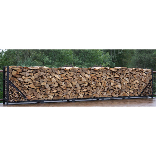 SHELTER-IT 20' Firewood Storage Rack with Kindling Storage - No Cover