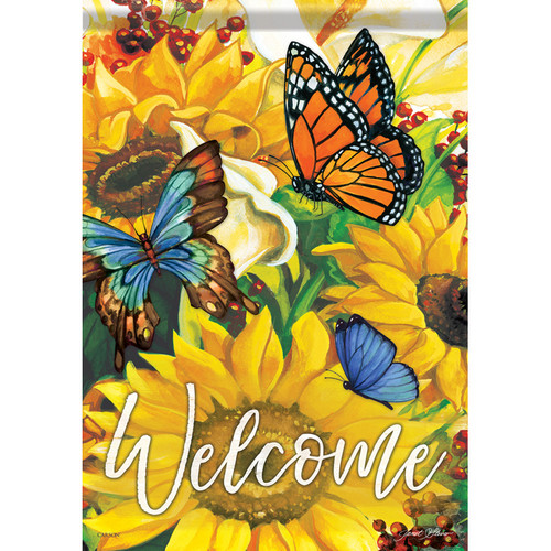 Carson Summer Banner Flag - Bright Sunny Welcome