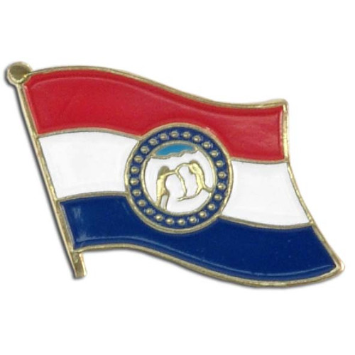 Missouri Flag Lapel Pin