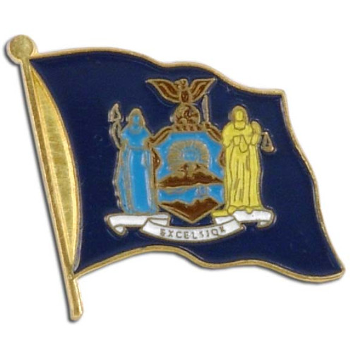 New York Flag Lapel Pin