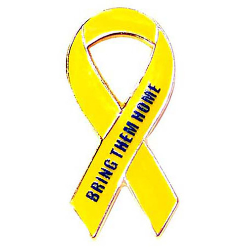 Support Our Troops-Bring Them Home-Yellow Ribbon Pin