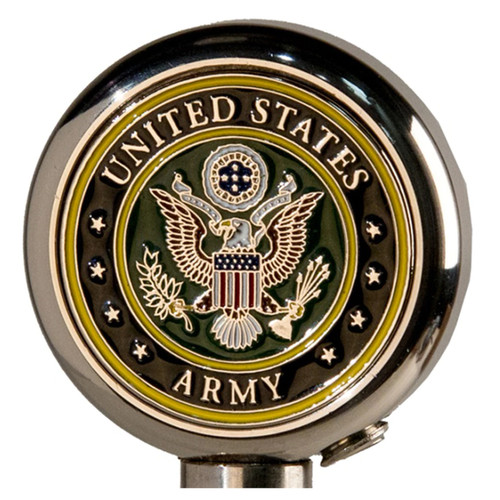 Motorcycle Flag Pole Decorative Topper - Army