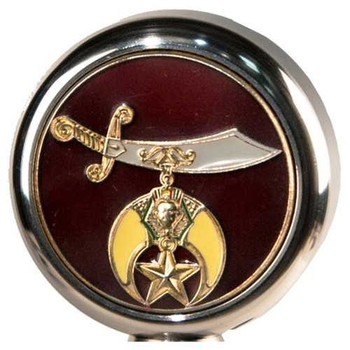 Motorcycle Flag Pole Decorative Topper - Shriners