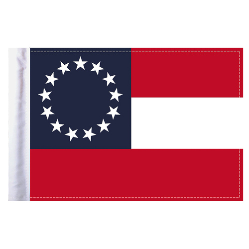 """Confederate """"Stars & Bars"""" Motorcycle Flag - 6"""" x 9"""""""