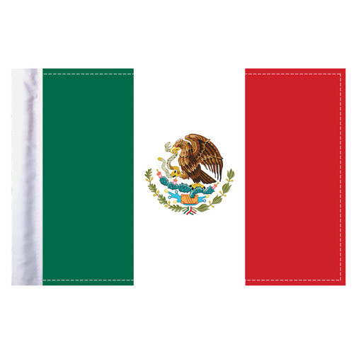 """Mexico Motorcycle Flag - 6"""" x 9"""""""