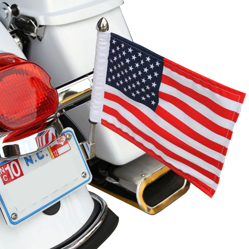 License Plate Motorcycle Flag Mount - Reversible