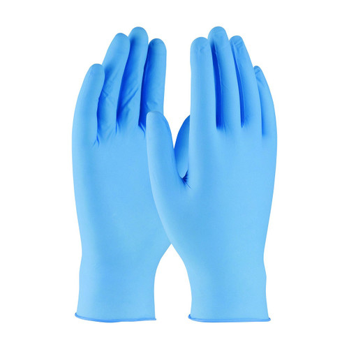 Palm Care Nitrile Gloves, Blue, Powder Free, Box 100  (M, L)