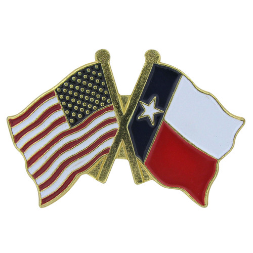 USA flag/Texas flag lapel pin