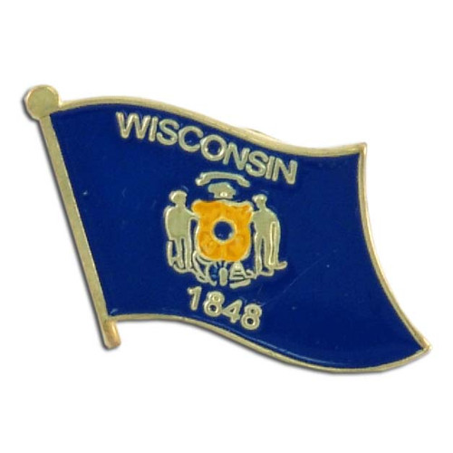 Wisconsin Flag Lapel Pin