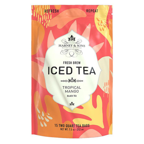 Harney and Sons Iced Tea - Tropical Mango - 15 Count