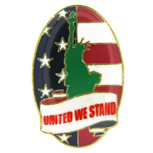 United We Stand Oval Pin -Statue Of Liberty