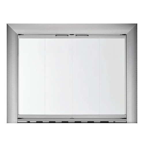 """Hearth Craft 36"""" W x 26.5"""" H Reflection Stock Masonry Fireplace Door - LESS THAN PERFECT"""