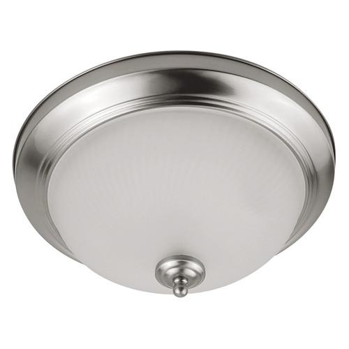 "2-Pack LED 11W 11"" Indoor Ceiling Light - Brushed Nickel - 900 Lumens - Euri Lighting"