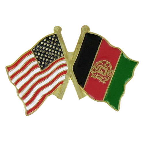 Double Lapel Pin USA on Left and Afghanistan on Right