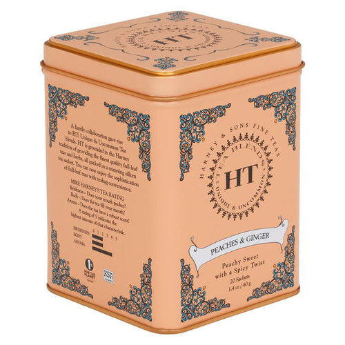 Harney and Sons Tea - Peaches and Ginger - 20 Count