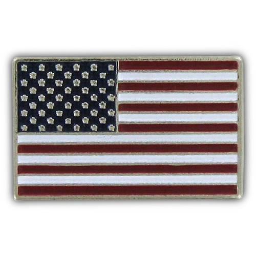 USA Flag Lapel Pin - Silver