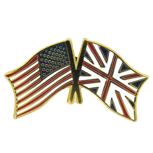 USA Flag / UK Flag Lapel Pin