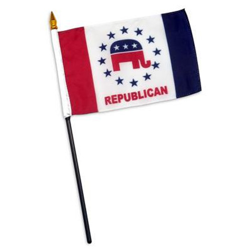 Republican Party Design 2 - 4 x 6 inch Flag