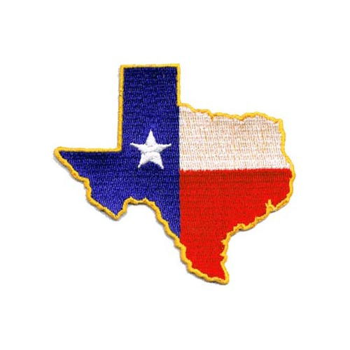 Texas State Embroidered Patch