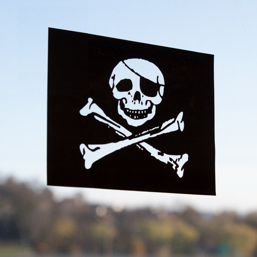 Pirate Flag Window Cling - Jolly Roger