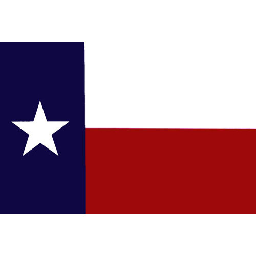 Texas Non-Reflective Decal - Single