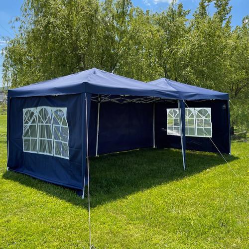 Woodeze 10' x 20' Canopy Party Tent - Blue