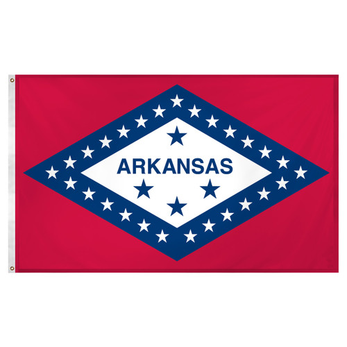 Arkansas flag 3 x 5 feet Super Knit polyester