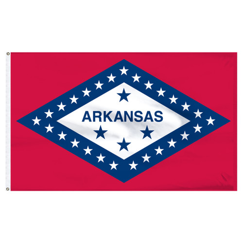 Arkansas 8ft x 12ft Nylon Flag