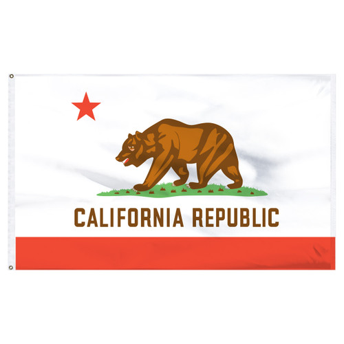 California Flag 3x5ft Nylon