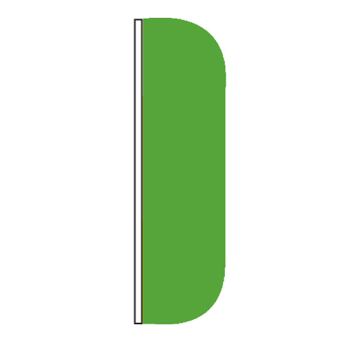 Solid Color Green Flutter Flags