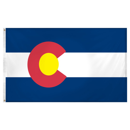 Colorado flag 3 x 5 feet Super Knit Polyester