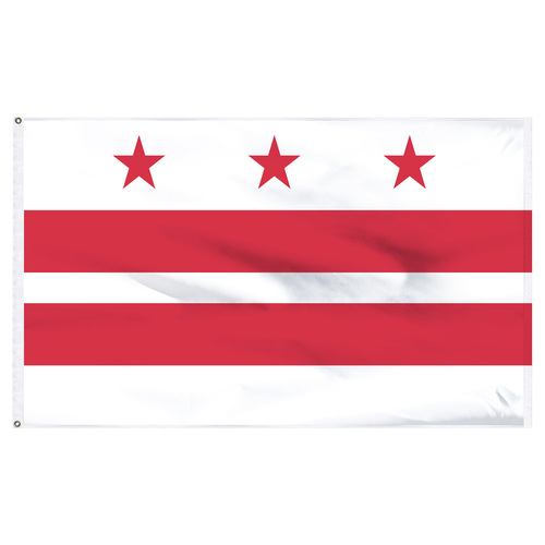District of Columbia ( Washington D.C.) flag 4 x 6 feet nylon