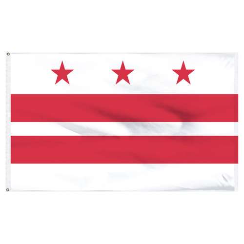 District of Columbia ( Washington D.C.) flag 6 x 10 feet nylon
