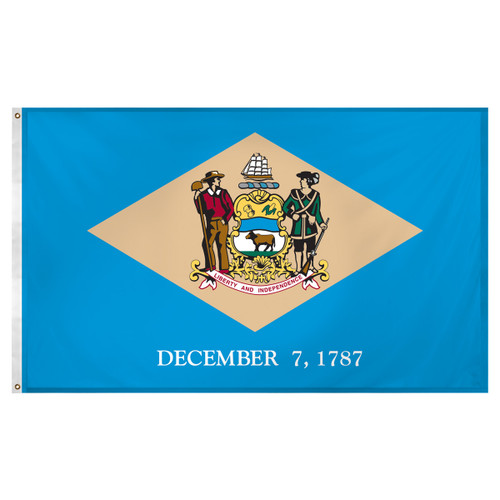 Delaware flag 3 x 5 feet Super Knit polyester