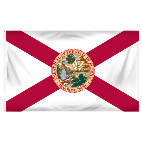 Florida 4ft x 6ft Sewn Polyester Flag