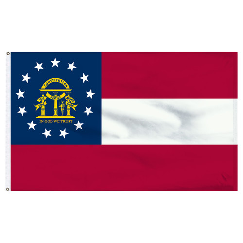 Georgia 4x6ft Nylon  Flag