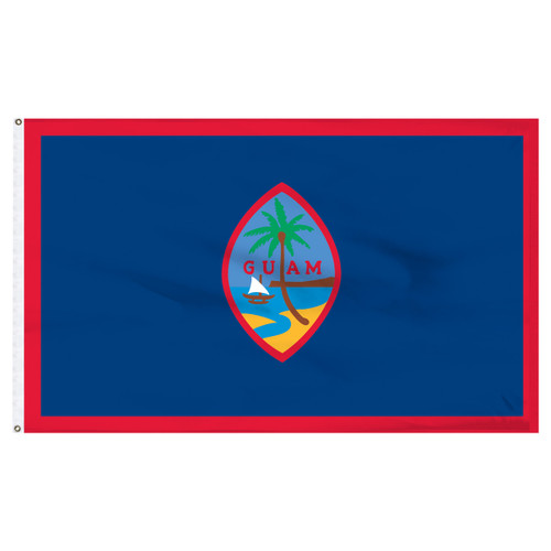 Guam Flag 5 x 8 Feet Nylon