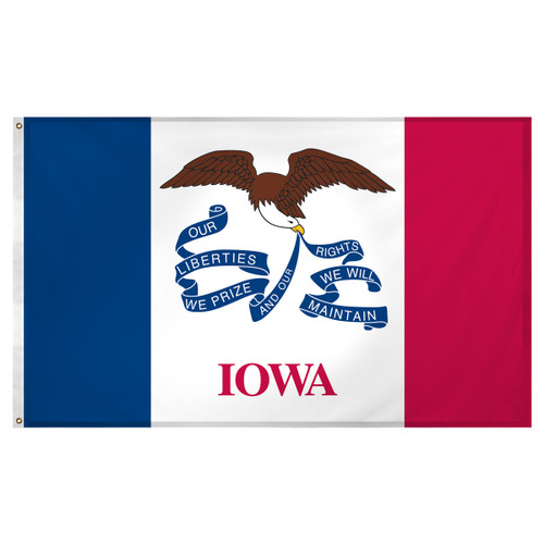 Iowa flag 3 x 5 feet Super Knit polyester