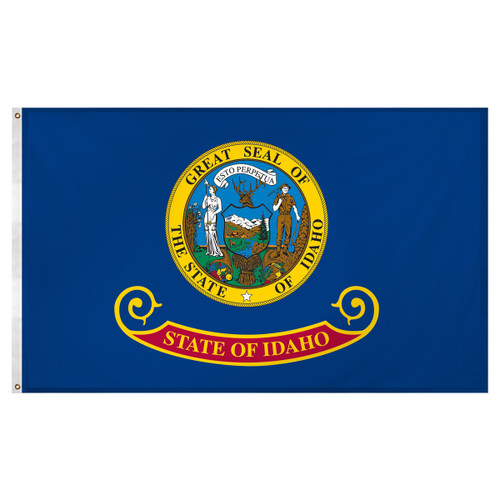Idaho flag 3 x 5 feet Super Knit polyester